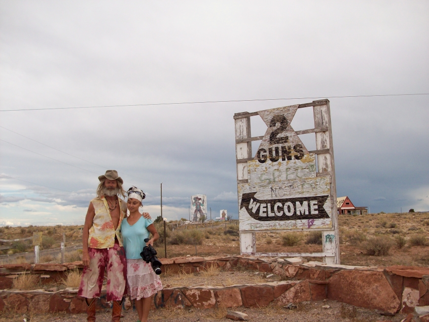 Billy and Anais Yeager in Two Guns, Arizona